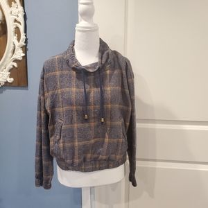 Forever 21 Plaid Flannel Cowl Neck Pullover size S